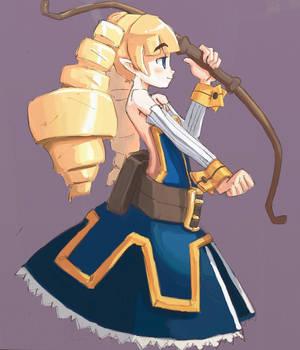 female archer by ashvey