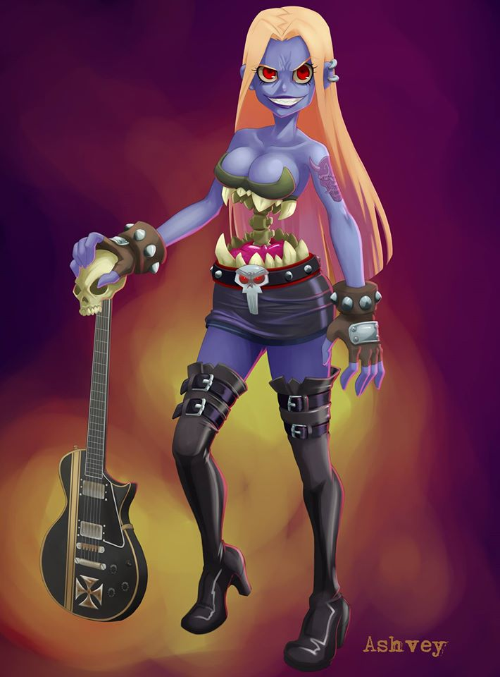 Heavy Metal Queen by ashvey