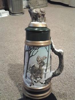 Ceramic Whitetail Deer Stein