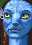 Avatar Neytiri 3 - ACEO by Sofera