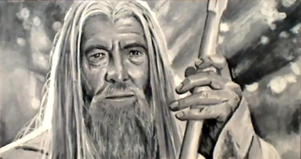Gandalf the White in Copic Markers w/ video by Sofera