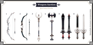 [Weapon Auction] Weapon batch #3 [CLOSE] by QuinnyIlada