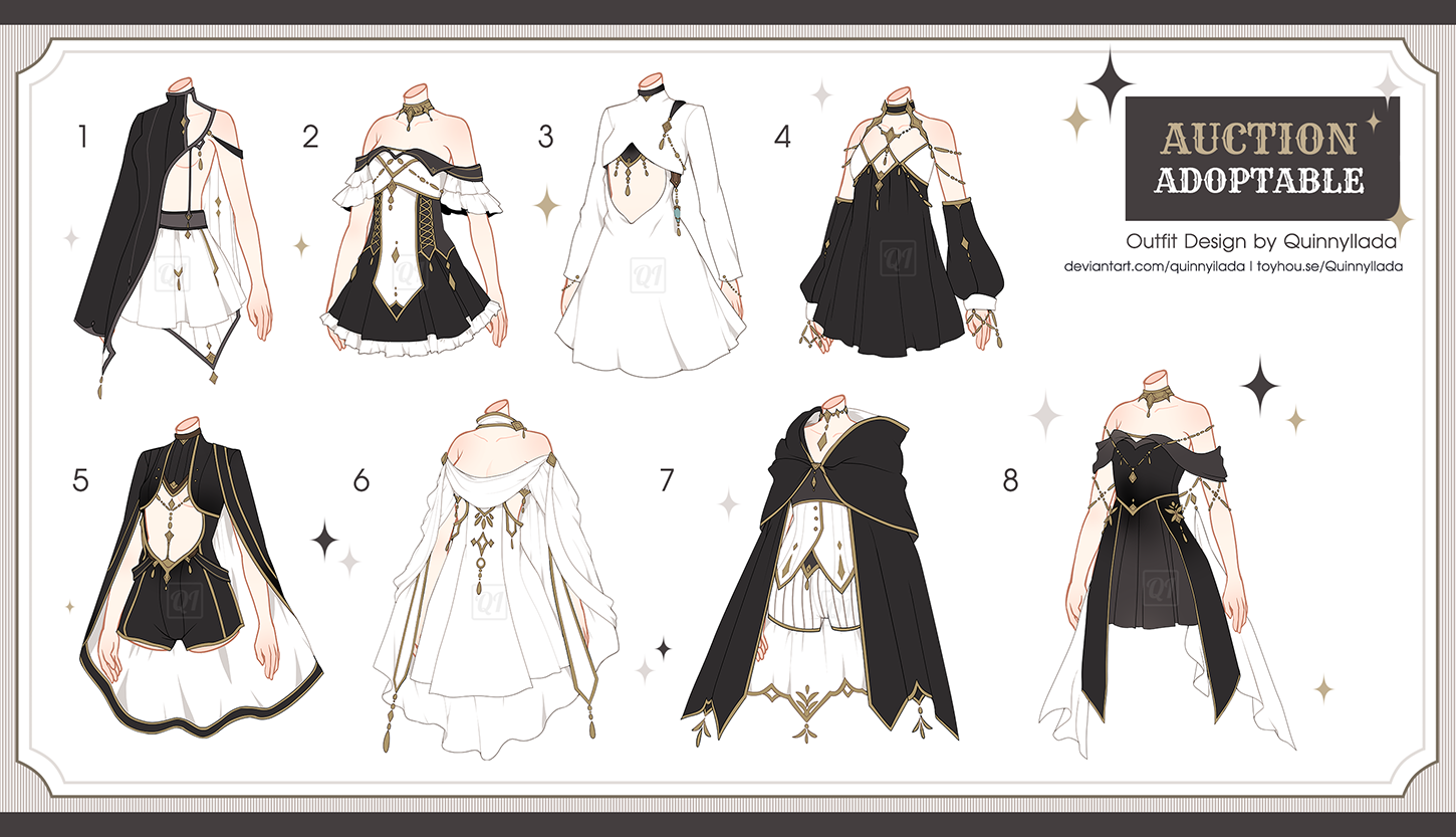 Adopt Auction] Fantasy Outfits 7 [ CLOSE ] by QuinnyIlada on