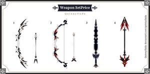 [Weapon Set Price] Weapon batch #6 [CLOSE]