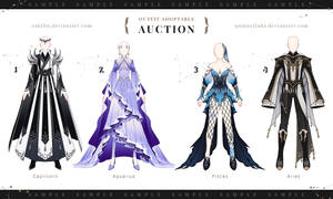 [ CLOSE Auction] Collab Outfits Adoptable : ZODIAC