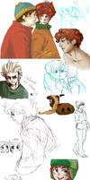 sp doodles... by MICHELANGELO12