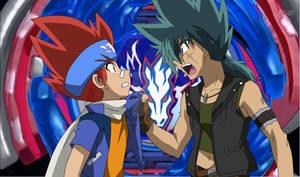 Gingka and Kyoya