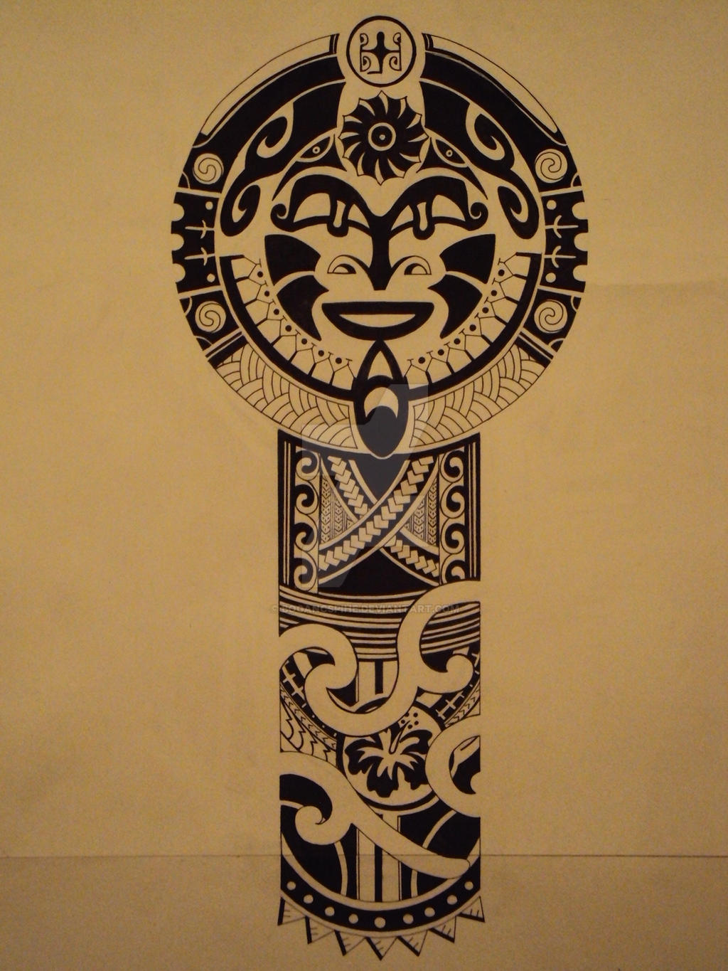 polynesian tattoo pattern for jocomella by bogancspihe on deviantart. Black Bedroom Furniture Sets. Home Design Ideas