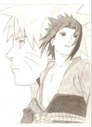 Sasuke and Naruto by pokemaniac34