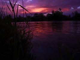 sunset landscape ed by rockmylife
