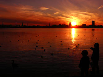 kids love sunsets by rockmylife