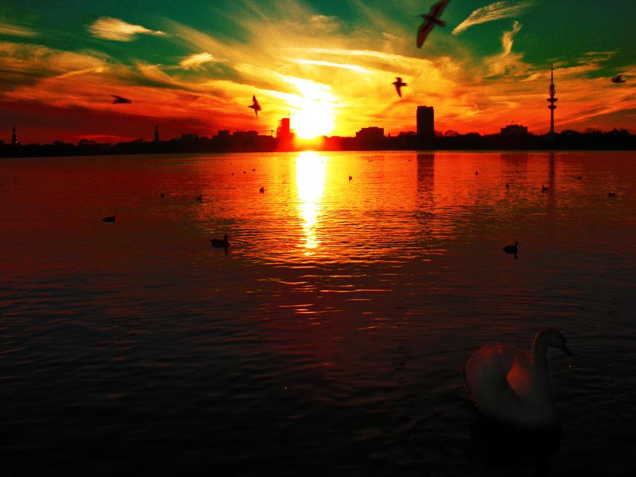 a wonderful sunset by rockmylife