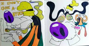 psychedelic goofy
