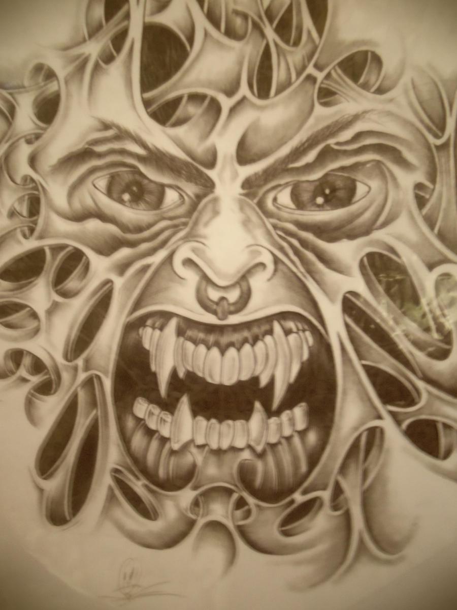 Evil face by mythias on deviantart for Evil faces tattoos
