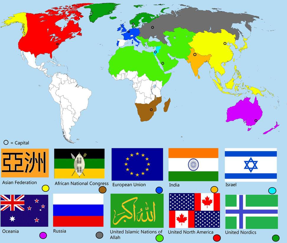 Alternative future world map World War 3 by Nikko707 on DeviantArt