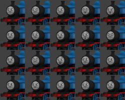 RWS Thomas' faces by explosivecookie