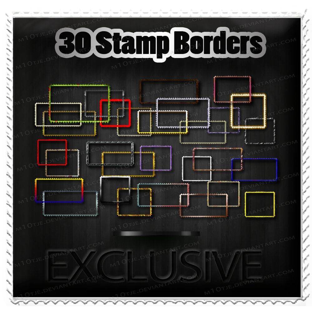 Exclusive 30 Stamp Borders By M10tje-1 by M10tje