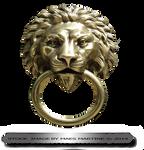 Lion Door Ornament