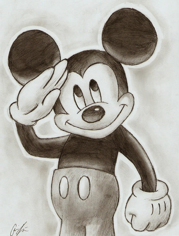 Mickey Mouse by Peace-love-frogs on DeviantArt Mickey Mouse Love Drawings