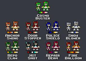 Cosmo Weapon Palettes - Mega Man ROCKS!