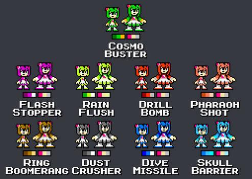 Cosmo Weapon Palettes - Mega Man 4