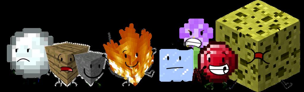 A Minecrafty BFDI by Piggy-Ham-Bacon on DeviantArt