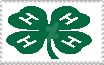 4-H clover stamp by PioneeringAuthor