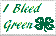 4-H I Bleed Green Stamp by PioneeringAuthor