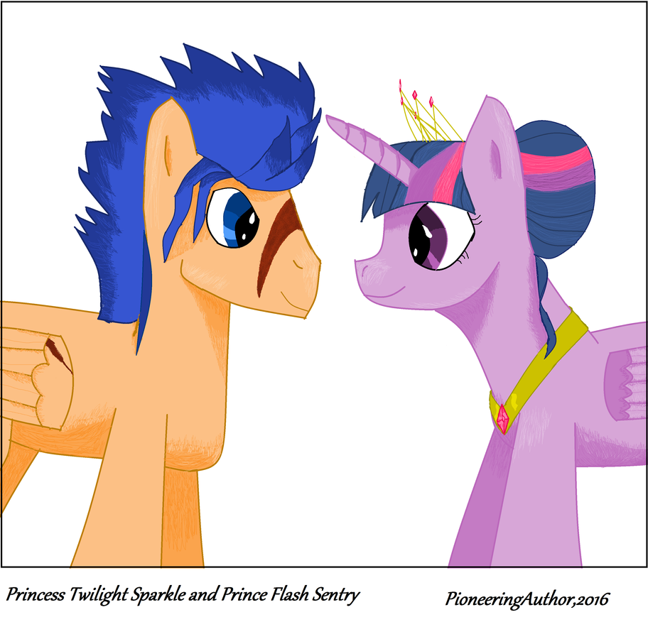 future twilight sparkle and flash sentry mspaint by