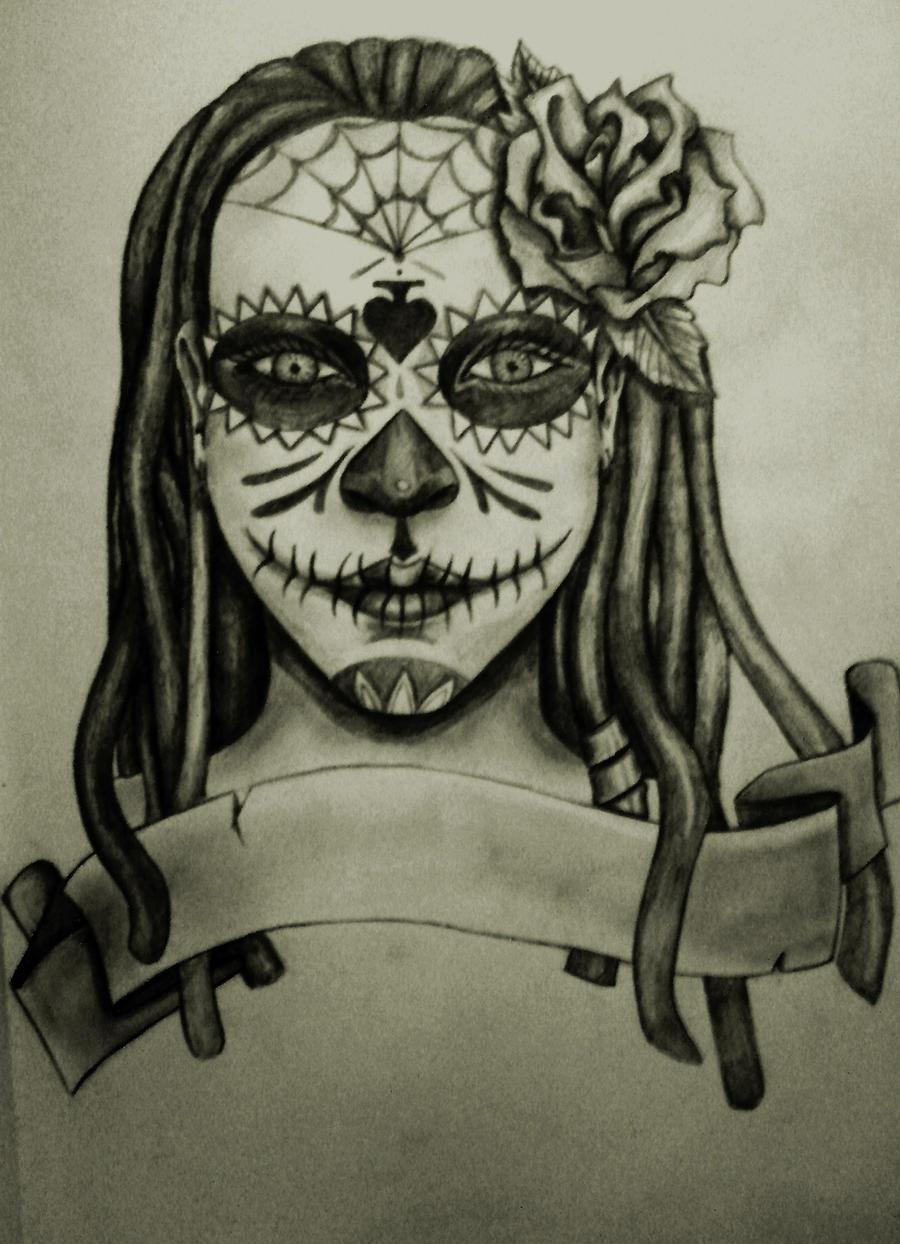 Mexican Skulls Drawings Art