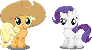 Filly Applejack and Rarity