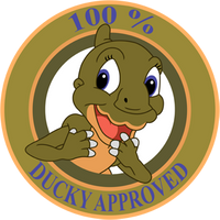 Ducky Approved Sticker by RockingScorpion