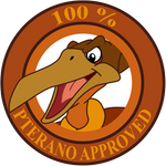 Pterano Approved Sticker