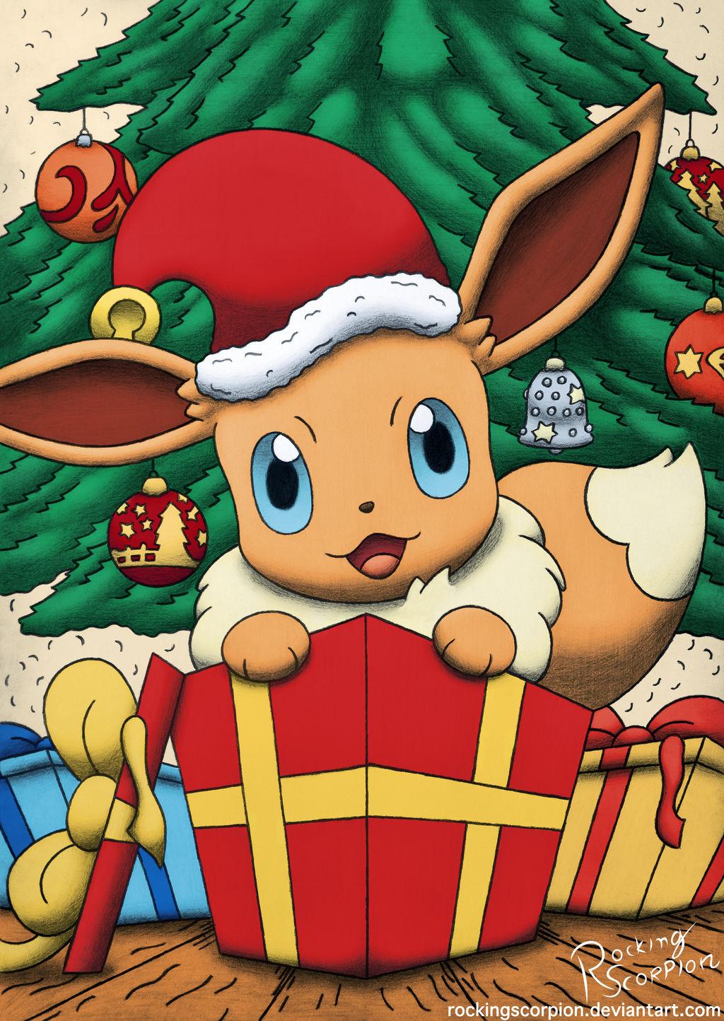 Christmas Eevee.It S Christmas Eevee By Rockingscorpion On Deviantart