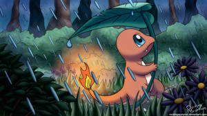 Charmander In The Rain