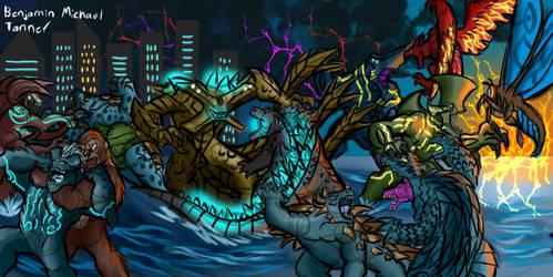 World War of Monsters by PaleoartStudios