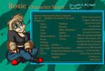Roxie Character Sheet by PaleoartStudios