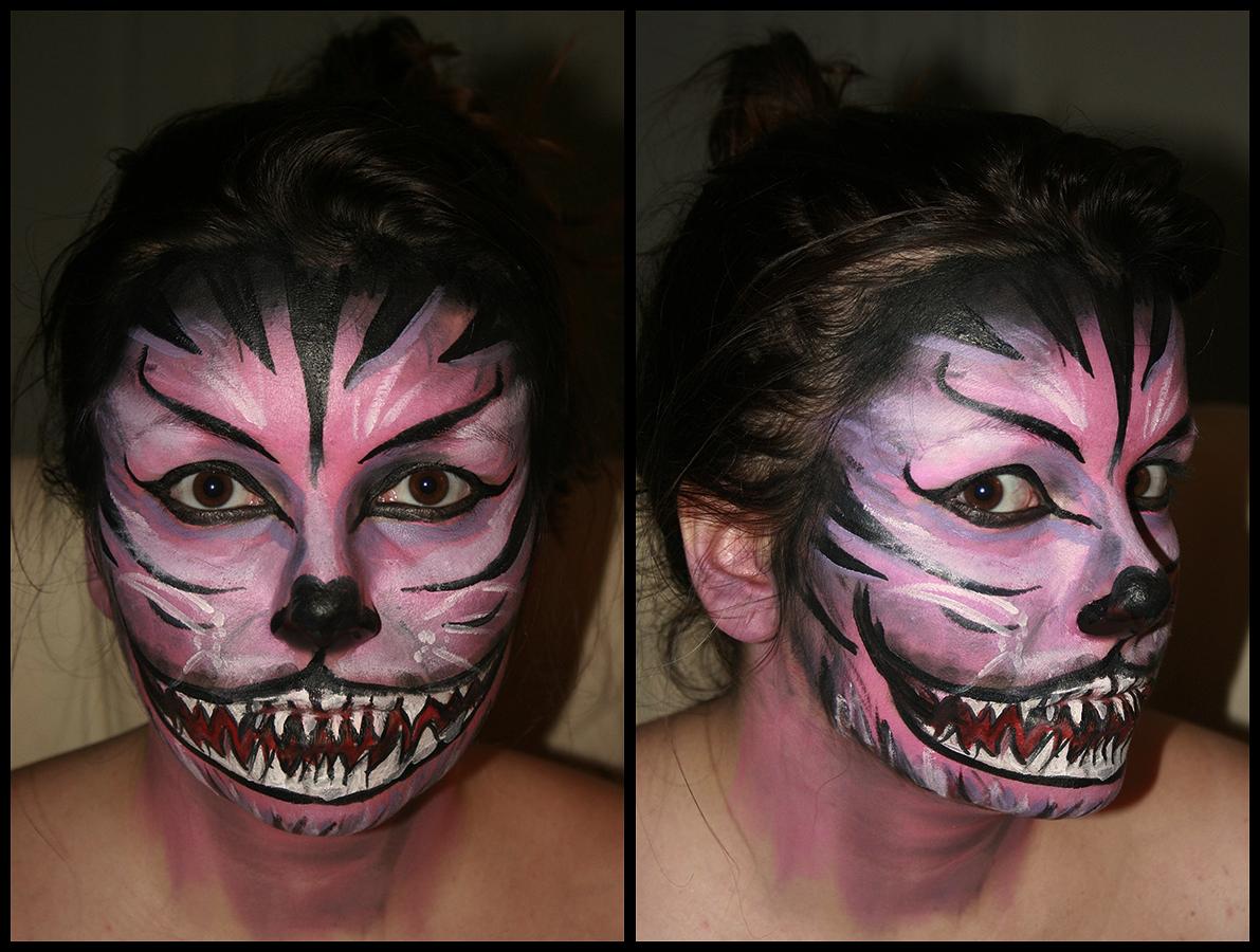 cheshire cat face paintuberkayt on deviantart
