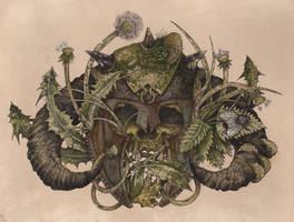 Viking Skull by urielstempest