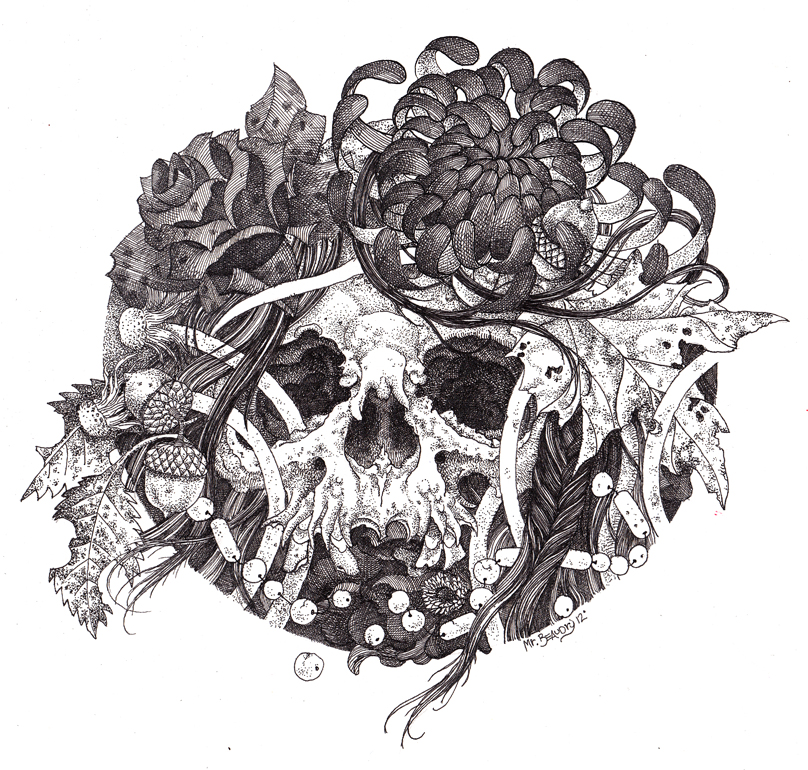 Withered Flowers Illustration.