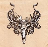 Deer Skull. by urielstempest