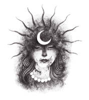Lady of the Black Sun. by urielstempest