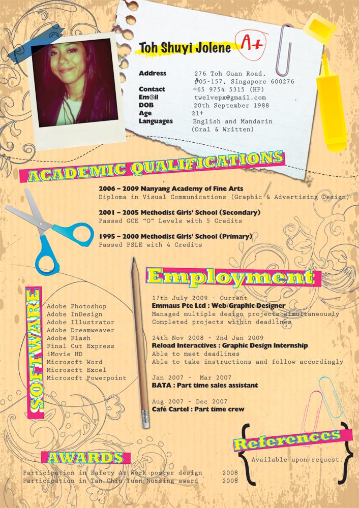 Resume: Apr 2010 by midnightsings