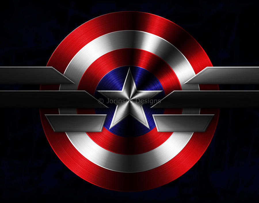 Captain America Shield Drawing: Captain America Shield And Uniform Logo By BuckleWinner On