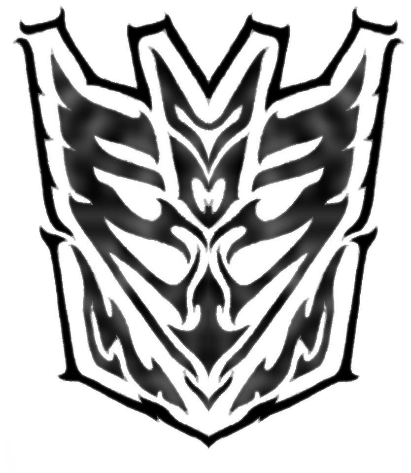 tribal decepticon symbol by blitzkrieg1210 on deviantart. Black Bedroom Furniture Sets. Home Design Ideas