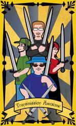 Seven of Swords - Transmission Awesome by EJoyArts