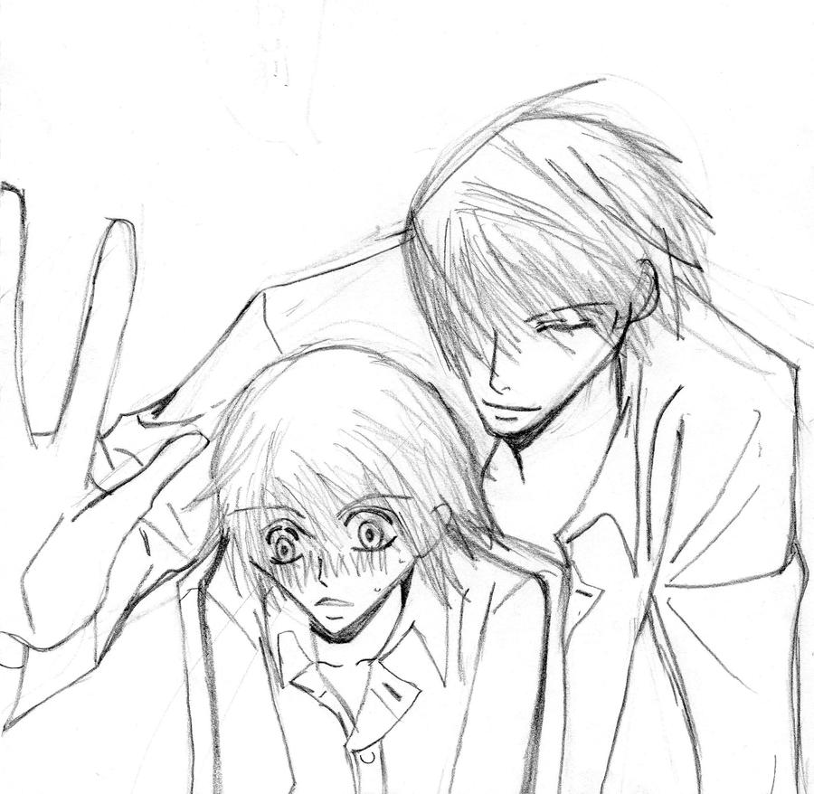 misaki and usagi by xandir1lover