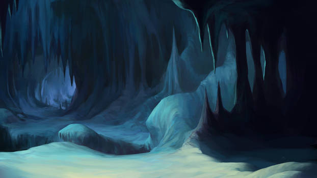 cave interior background