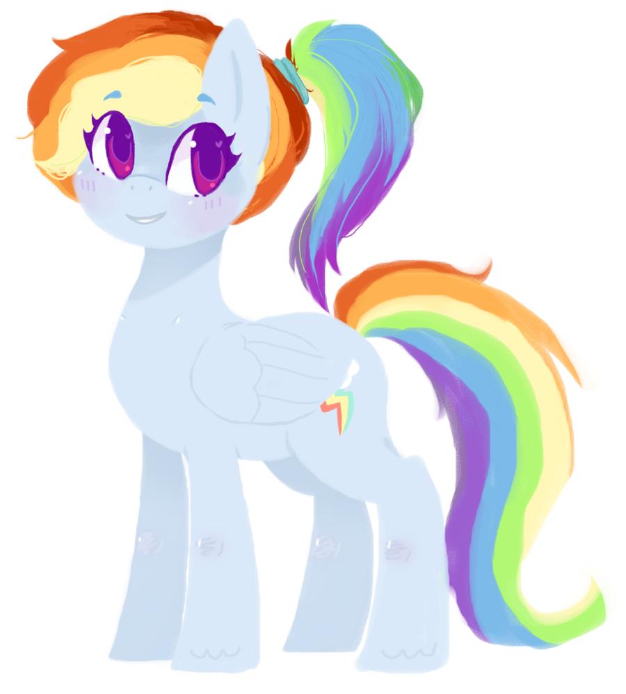rainbow dash by kryssixx
