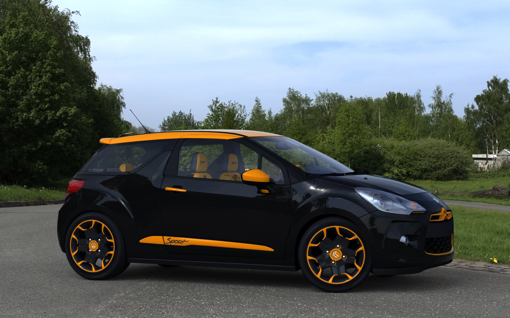 citroen ds3 sport orange r1 by rjamp on deviantart. Black Bedroom Furniture Sets. Home Design Ideas